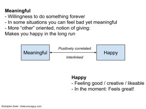 Happy-meaningful